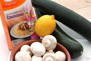 Champignons, Couscous en Citroen
