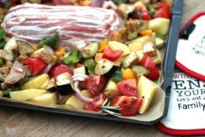 ovenschotel met gehakt en verse groenten