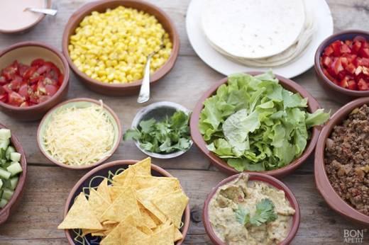 herfst gerecht met Mexicaanse ingrediënten