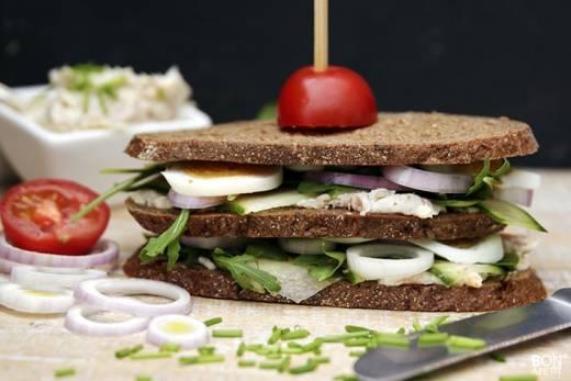 sandwich met forel