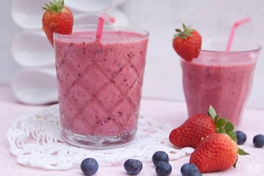 smoothie met zomerfruit