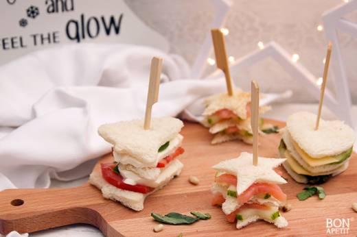 mini sandwiches voor de feestdagen